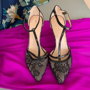 Sole Society Lace T-Strap Heels